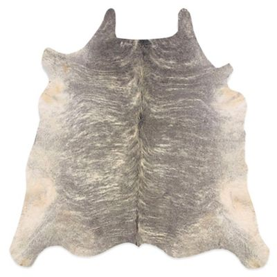 Linon Home Natural Cowhide 5 Foot X 8 Foot Rug In Light Brindle