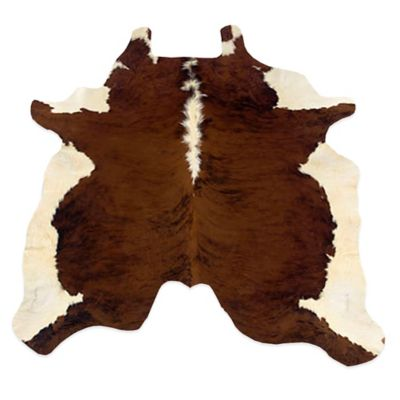 Linon Home Natural Cowhide 5 Foot X 8 Foot Rug In Dark Brindle