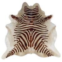 Linon Home Natural Cowhide 5-Foot x 8-Foot Rug in Brown Zebra
