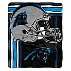 NFL Carolina Panthers Royal Plush Raschel Throw