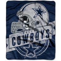 NFL Dallas Cowboys Royal Plush Raschel Throw