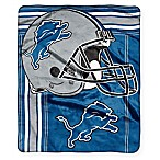 NFL Detroit Lions Royal Plush Raschel Throw