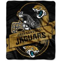 NFL Jacksonville Jaguars Royal Plush Raschel Throw