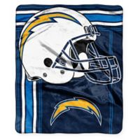 NFL San Diego Chargers Royal Plush Raschel Throw
