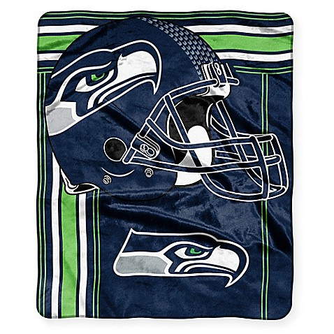 NFL Seattle Seahawks Royal Plush Raschel Throw - Bed Bath & Beyond