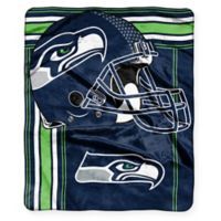 NFL Seattle Seahawks Royal Plush Raschel Throw