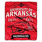 University of Arkansas Raschel Throw