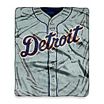 MLB Detroit Tigers Jersey Raschel Throw Blanket