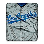 MLB Los Angeles Dodgers Jersey Raschel Throw Blanket