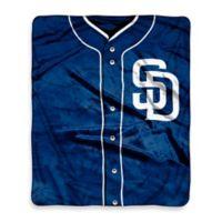 MLB San Diego Padres Retro Raschel Throw Blanket