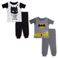 Warner Bros. Size 4T 4-Piece Batman Pajama Set