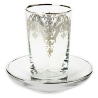 Classic Touch Vivid Plus 12-Piece Cup and Saucer Set in Silver