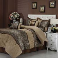 Nanshing Sadie California King Comforter Set in Brown/Taupe