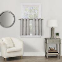 Rings 36-Inch Grommet Window Curtain Tier Pair in Grey