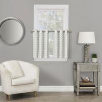 Rings 36-Inch Grommet Window Curtain Tier Pair in White