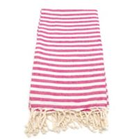 Linum Home Fun in the Sun Fouta Beach Towels in Pink
