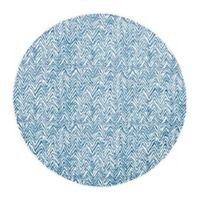 Unique Loom Chevron Oasis 8' Round Indoor/Outdoor Area Rug in Blue