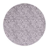 Unique Loom Chevron Oasis 8' Round Indoor/Outdoor Area Rug in Dark Gray