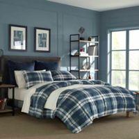Nautica® Crossview Plaid Reversible Twin/Twin XL Comforter Set in Navy
