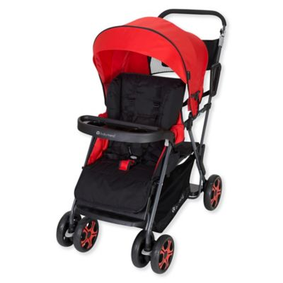 Baby Trend Sit N Stand Double Stroller In Stanford Red