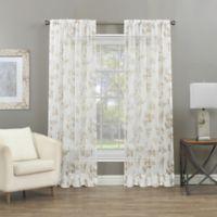 Summer Vine 84-Inch Rod Pocket Sheer Window Curtain Panel in Linen