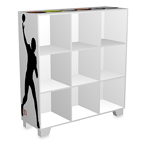 ncaa sports 9 cube storage organizer in white buybuy baby. Black Bedroom Furniture Sets. Home Design Ideas
