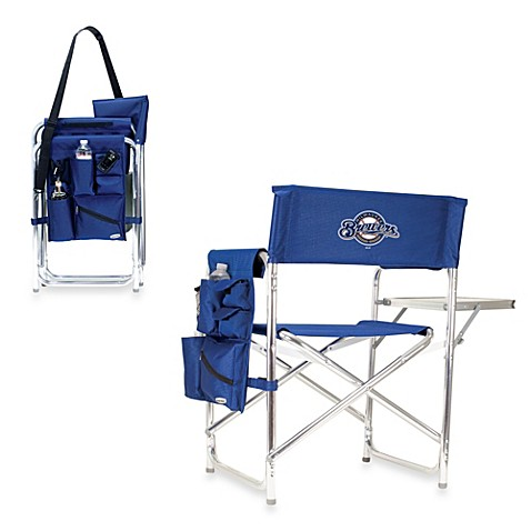 Picnic Time® MLB Milwaukee Brewers Portable Sports Chair