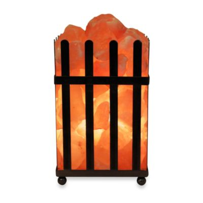 Himalayan Glow Ionic Salt Crystal Picket Fence Lamp - Bed Bath & Beyond