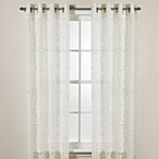 DKNY Halo Grommet Sheer 63-Inch Window Curtain Panel in Ivory