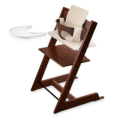 stokke tripp trapp high chair complete bundle in walnut