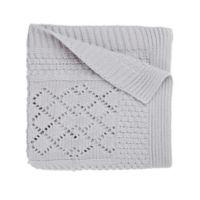 Elegant Baby® Knit Baby Blanket in Grey Star
