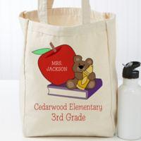 Teddy Bear PZ Teacher Canvas Tote Bag