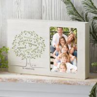 Family Tree of Life Personalized Whitewashed Off-Set Frame