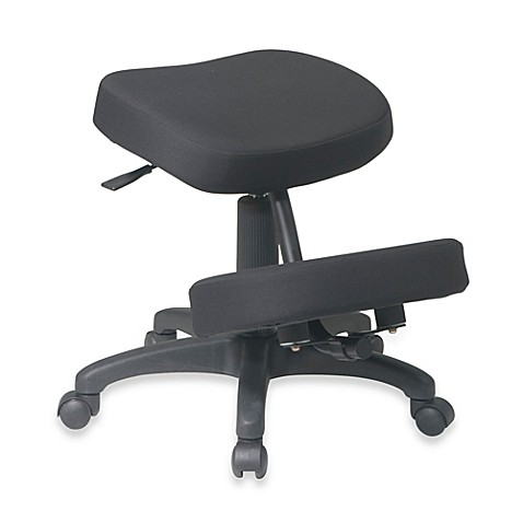 Office star work smart ergonomically designed memory foam for Chaise ergonomique genoux