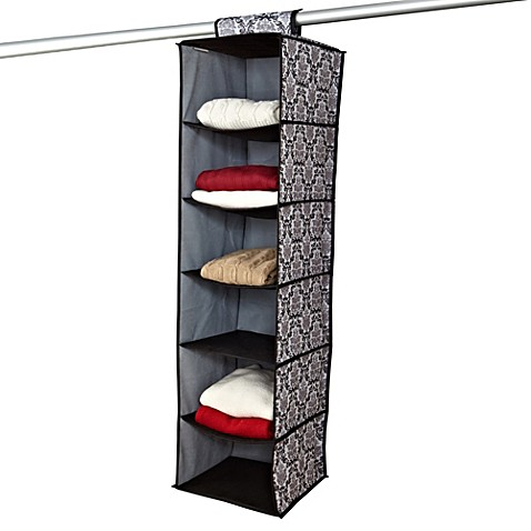 The Laura Ashley® Collection 6 Shelf Hanging Closet Organizer In Delancy