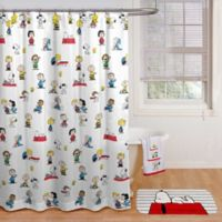 Peanuts™ Shower Curtain in White