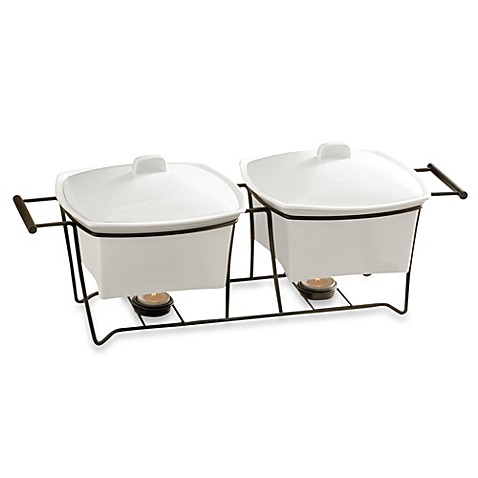 b. smith 1.5-quart double buffet warmer with stand - bed bath & beyond