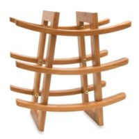 Lipper International 9-Bottle Bamboo Wine Rack