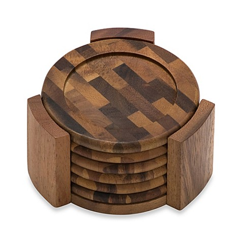 Buy Lipper International Acacia Coasters Set Of 6 From