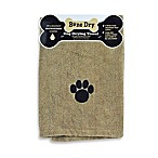 Embroidered Paw Drying Towel