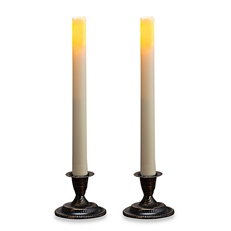Candle Impressions 174 2 Pack Flameless Taper Candles Bed