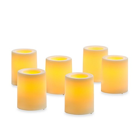 Candle Impressions 174 6 Pack Flameless Smooth Votive Candles