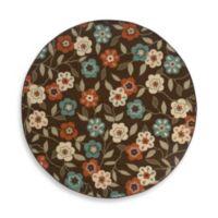 Oriental Weavers Montego 7-Foot 10-Inch Round Rug in Brown Floral