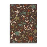 Oriental Weavers Montego Leaves 7-Foot 10-Inch x 10-Foot 10-Inch Rug in Brown