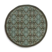 Oriental Weavers Montego 7-Foot 10-Inch Round Rug in Damask Blue