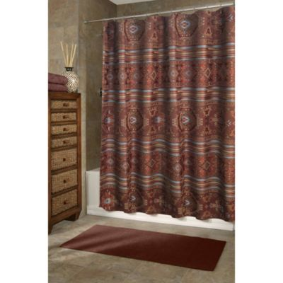 Buy Aqua and Brown Shower Curtain from Bed Bath & Beyond