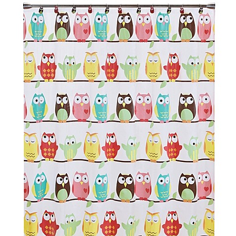 Owl Peva 70 Inch X 72 Inch Shower Curtain Bed Bath Beyond