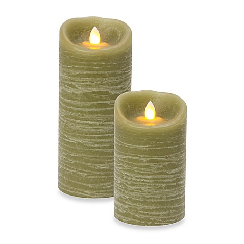 Candle Impressions 174 Mirage Real Wax Led Pillar Candles