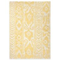 Jaipur Khalid Floral 5-Foot By 8-Foot Indoor Rug in White Butter