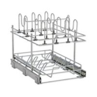 2-Tier Pot and Lid Kitchen Organizer, Chrome